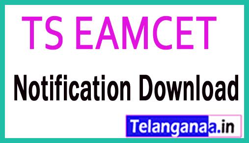 TS Telangana EAMCET TSEAMCET 2019 Notification Download