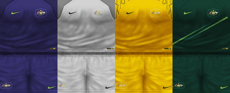 newest 32bb6 d1321 PES 6 Kits Australia National Team World Cup 2018 by ...