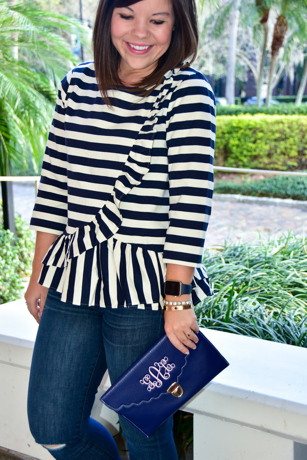 J. Crew Striped Top + Oka-B Giveaway WINNER!