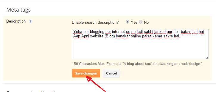 Search Description kya hai