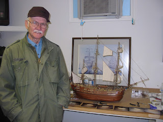 My Grandpa and the model ship he built