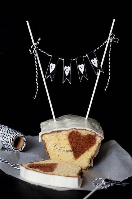 kuchen mit herz, herz in kuchen, valentinstag kuchen