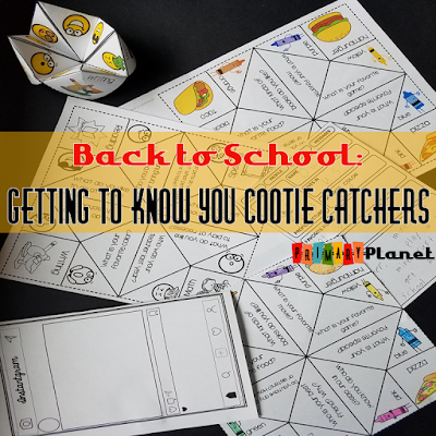 Back to School Getting to Know You Cootie Catchers