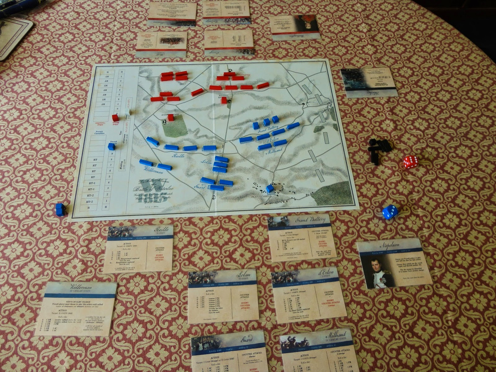 10/ 12mm WW2 and 6mm Napoleonic gaming: W1815 - new board game on
