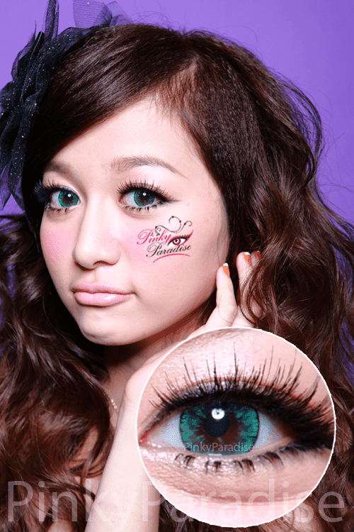 EOS Ice Green CIRCLE Lenses (Colored Contacts)