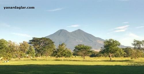 Orta Amerika'da San Vicente Volkanı El Salvador