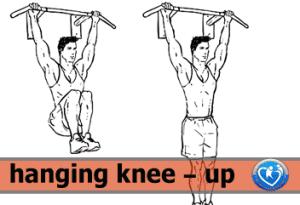 hanging knee-up