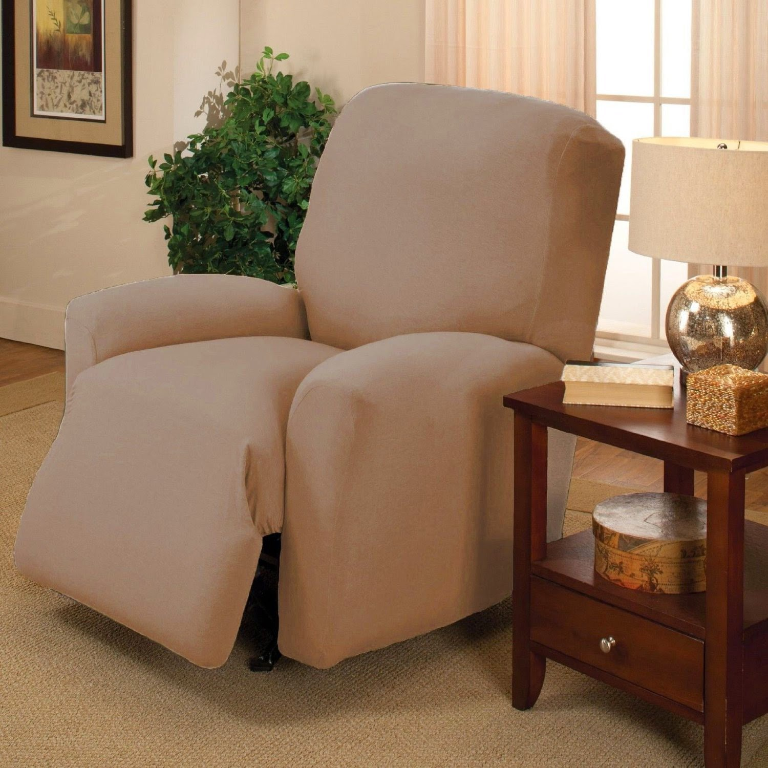 Cream Double Recliner Couch Slipcovers