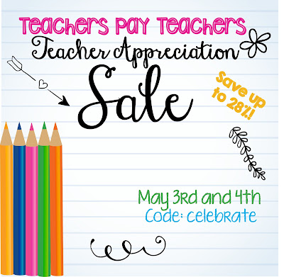 Teacher Appreciation TPT Sale!