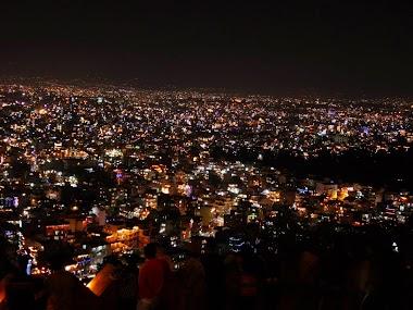 Celebrating Diwali and Tihar in Kathmandu in Nepal