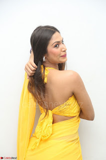 Nishigandha in Yellow backless Strapless Choli and Half Saree Spicy Pics 052.JPG