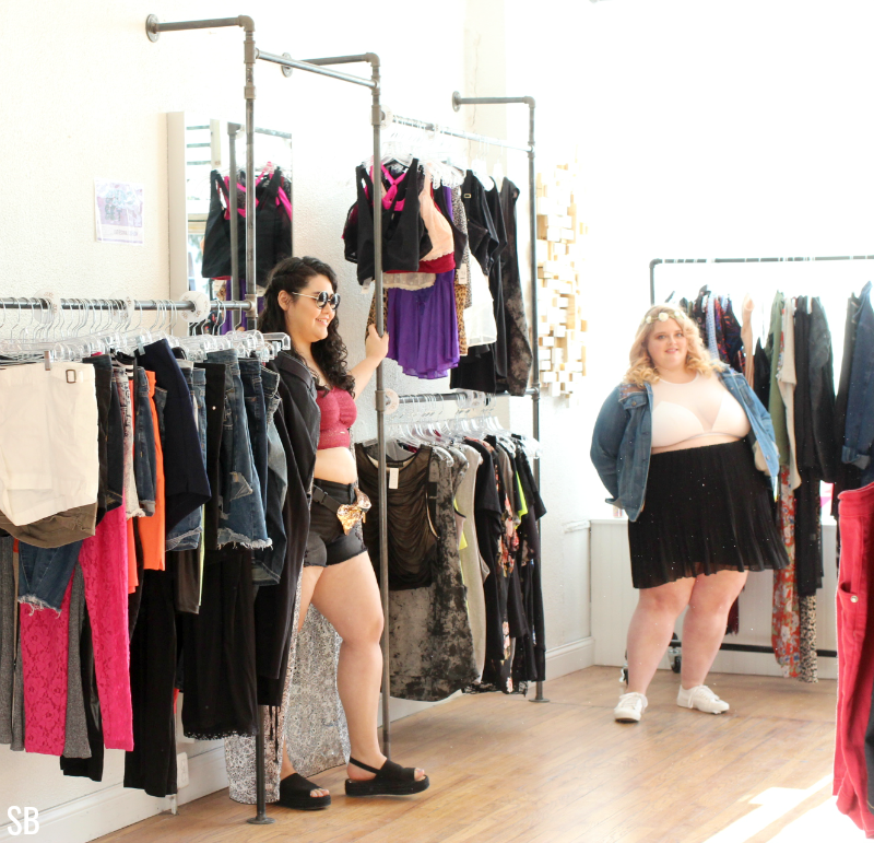 02c1e5e567e The Fat Festival Fashion pop up shop was all about the Summer festival  season where they showed off plus size looks inspired by local music  festivals.