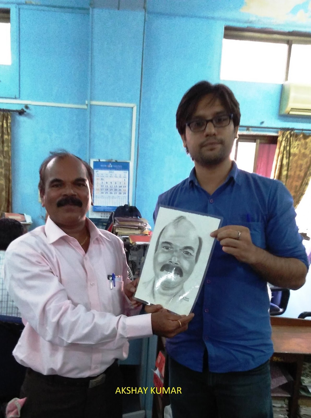 Pencil sketch drawing of shri s k shinde from mumbai by akshay kumar