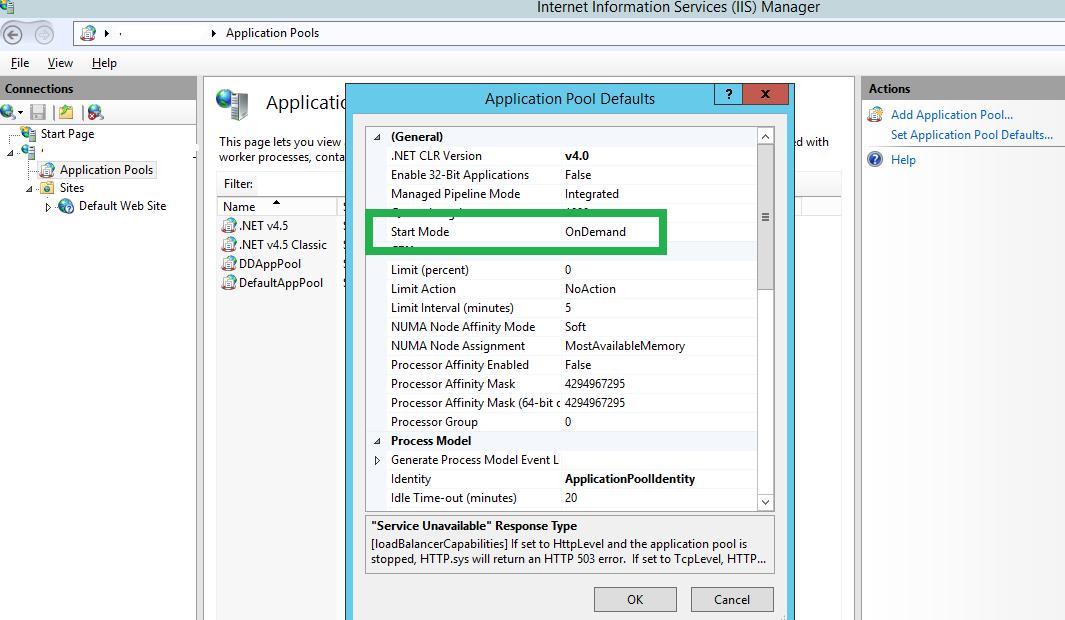 code bits: IIS - Automatically Restart stopped AppPools