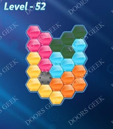 Block! Hexa Puzzle [5 Mania] Level 52 Solution, Cheats, Walkthrough for android, iphone, ipad, ipod
