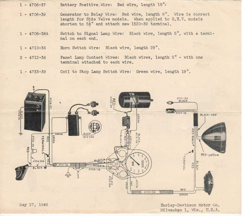 1941 harley davidson wl restoration : another h-d wl ... harley control wiring diagram