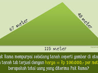 Cara Menghitung Luas Tanah Berbentuk Segitiga
