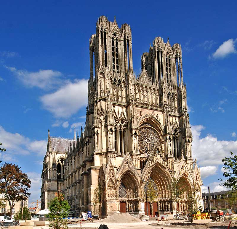 la cattedrale gotica di reims una delle pi belle della francia compie 800 anni girovagate. Black Bedroom Furniture Sets. Home Design Ideas