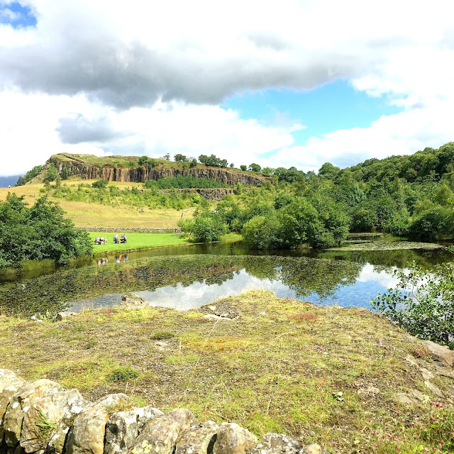Walltown quarry Lake Northumberland National Park UK