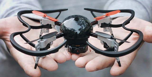 shaped slice of metallic amongst a plastic dome Extreme Fliers Micro Drone 3.0 Review - Small But Smart