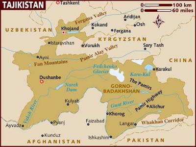 Tajikistan Map Political Regional Maps Of Asia Regional