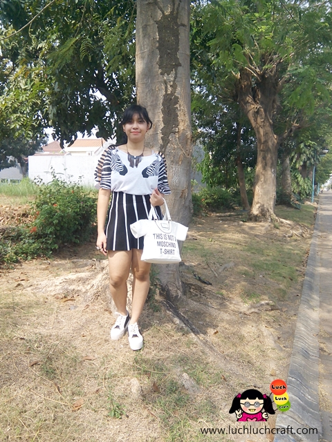 Fashion Black And White Striped Dressgal Zebra Shirt Luch Luch