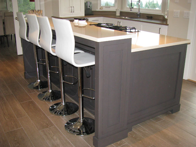 This Wesley Ellen Project Designed By West Vancouver Interior Designer Lesli Balagno Features A Contemporary Styled Dark Gray Stained Rift Sawn Oak