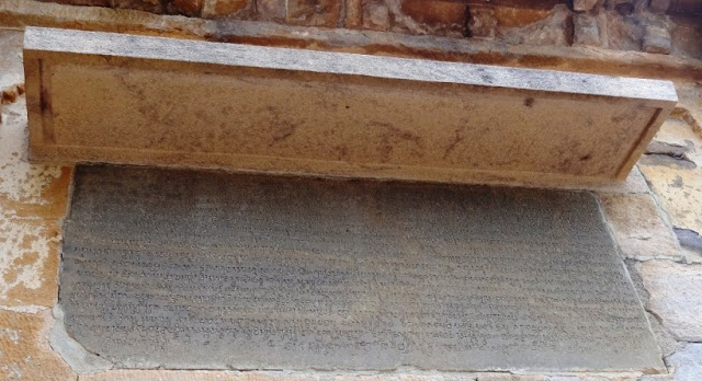 Original Pulakeshin II inscription found in Meguti hill Jain temple Aihole