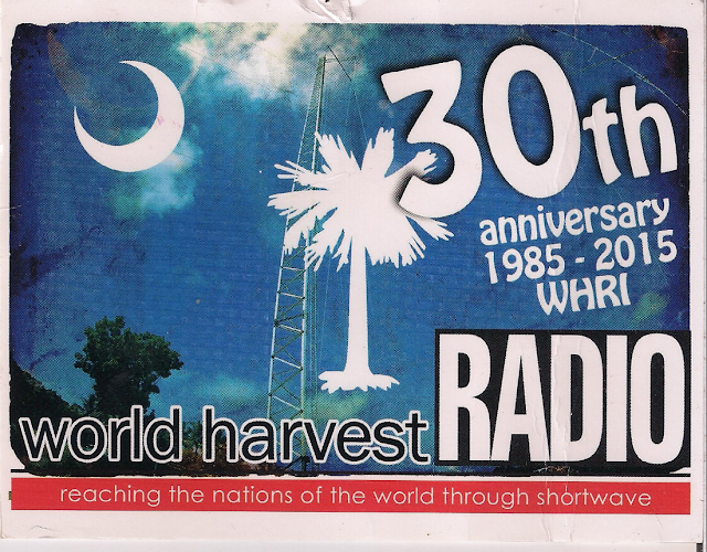 WHRI World Harvest Radio International QSL