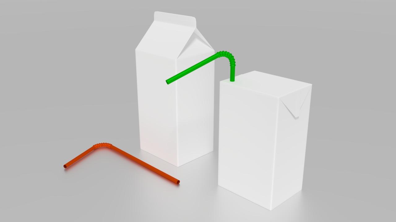 Free 3D Juice Box .blend