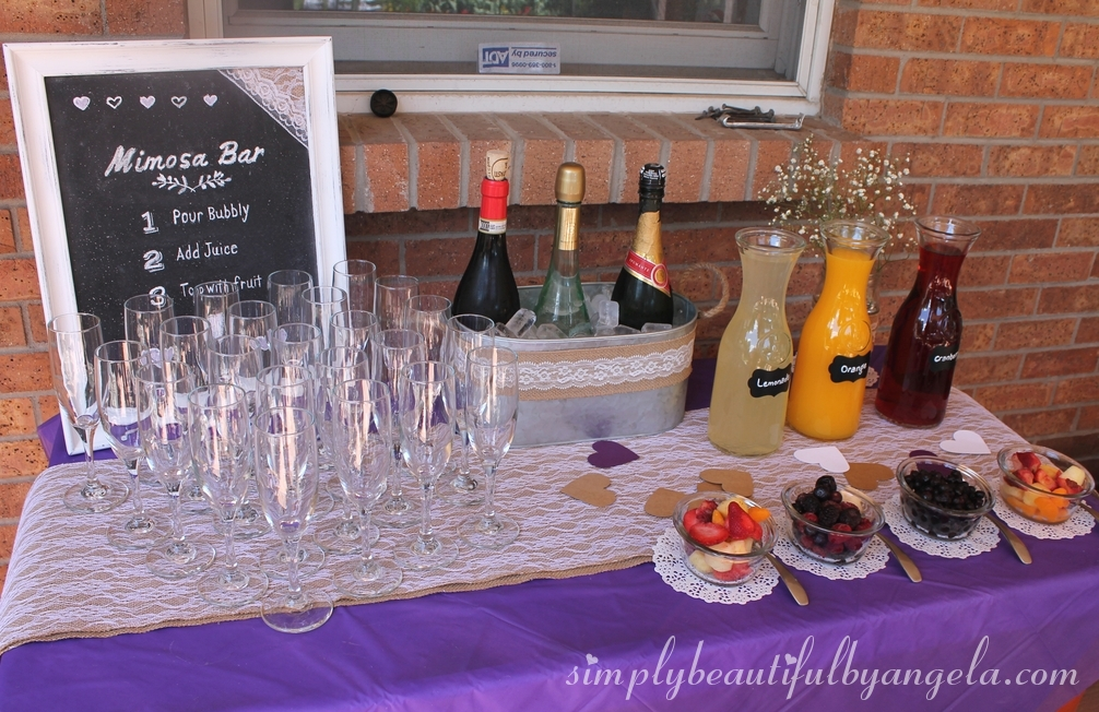 and to have a proper bridal shower some bubbly is a must our mimosa bar was a big hit