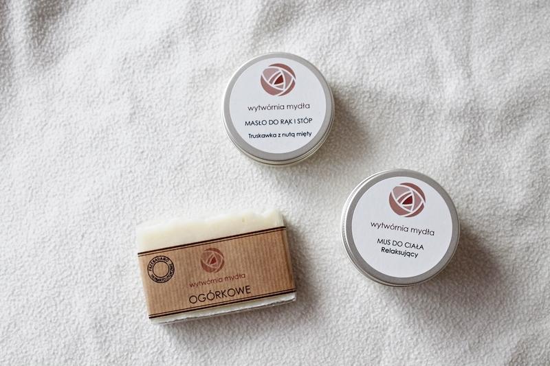 mydło ogórkowe, mus do ciała oraz masło do rąk i stóp - Wytwórnia mydła
