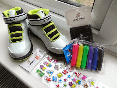 Skribbies shoes, children Hi-Top trainers, children personalised shoes