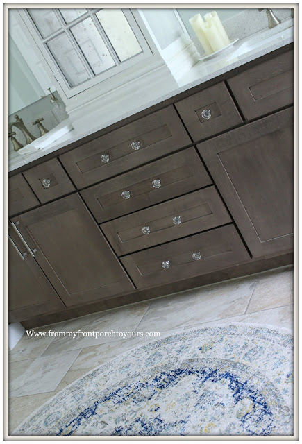 Master Bathroom Makeover-Reveal-Crystal Knobs-Cabinet Hardware-French Country-Cottage Style-From My Front Porch To Yours