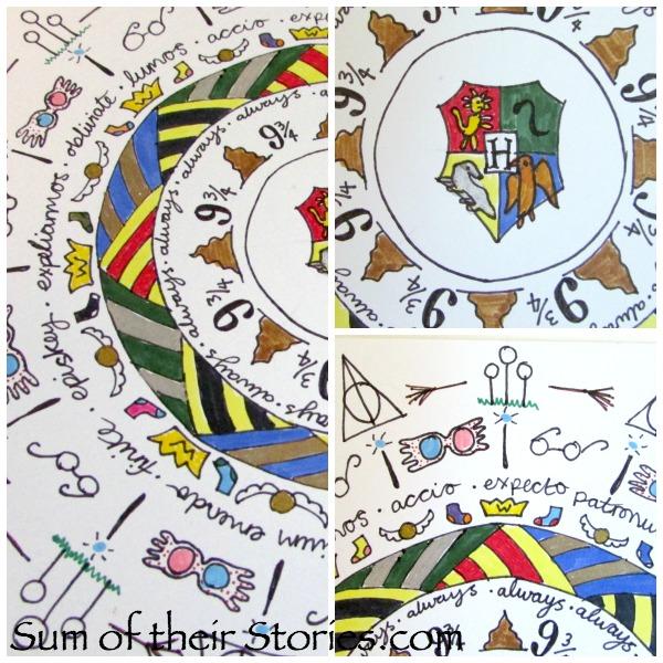 Harry Potter Themed Mandala Greeting Card
