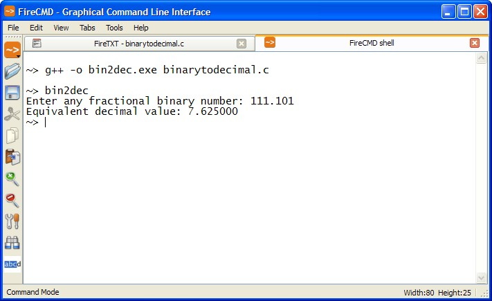 Binary to Decimal Program