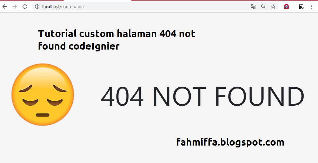 cara custom halaman error 404 CodeIgniter terbaru