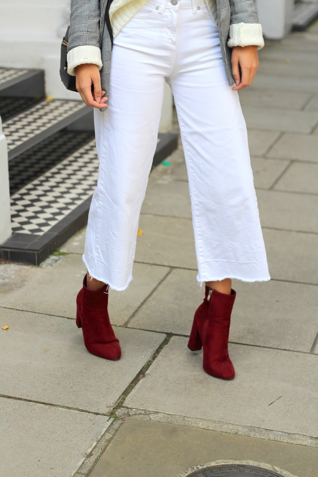 peexo blogger white denim culottes next
