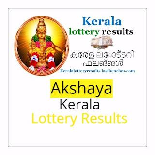 Kerala Akshaya lottery results -Akshaya ak lottery