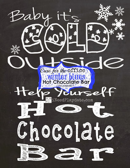 Cure for the Office Blues: Hot Chocolate Bar and some printables