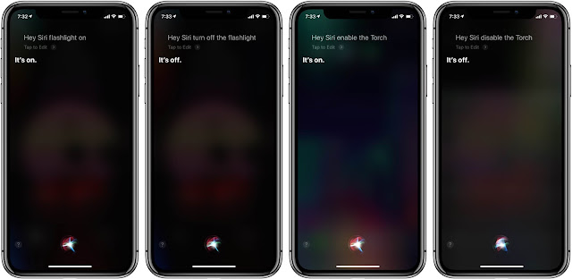 New in iOS 12: Siri can turn on the flashlight