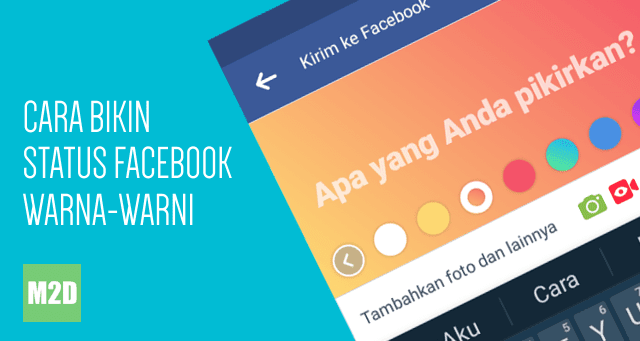 Status Facebook background berwarna