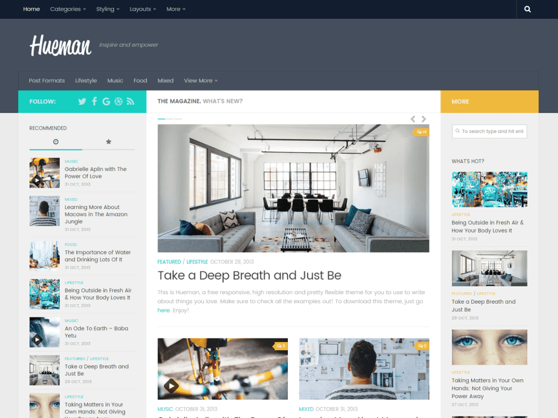 Duniartips WordPress Theme {hueman} Download for free - themetemplar com