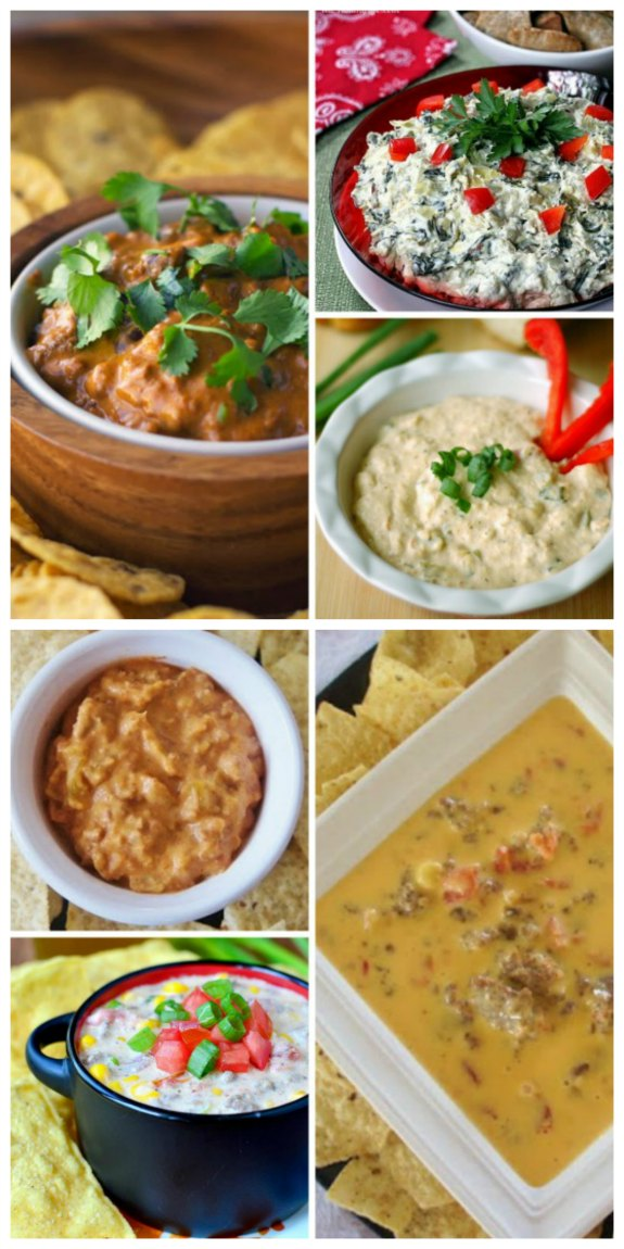 The Best Slow Cooker Dip Recipes for Holiday or Superbowl Parties found on SlowcookerFromScratch.com