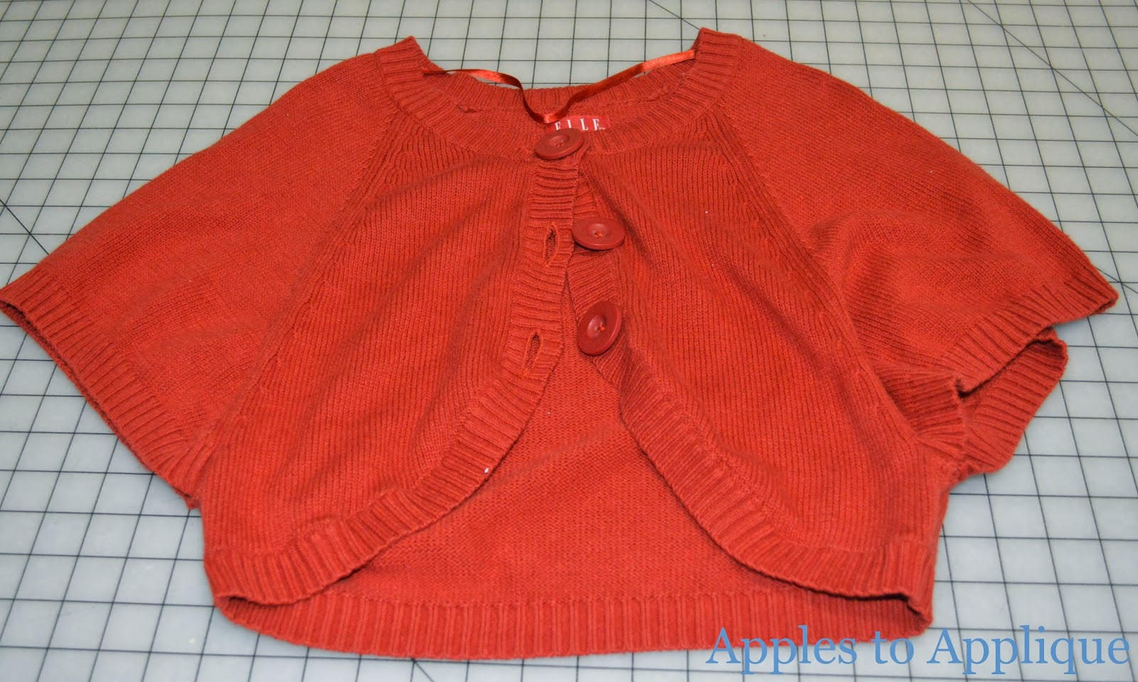 9d458efdd Apples to Applique  Baby Sweater from Old Adult Sweater