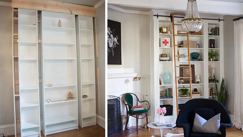 Ikea hack transformando una libreria billy de 200 en - Ikea mobili libreria ...