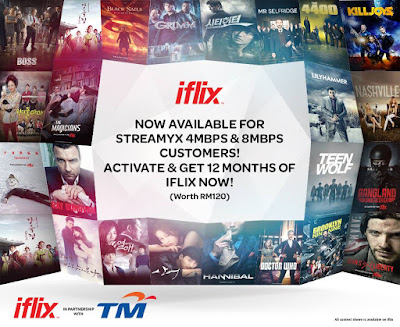 Free iflix subscription for TM Streamyx subscribers
