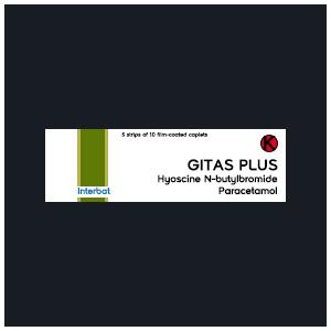 Gitas Plus Kaplet : Hyoscine N-butylbromide, Paracetamol