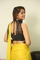 Cute Actress Ashwini in Yellow Saree Exclusive  055.JPG