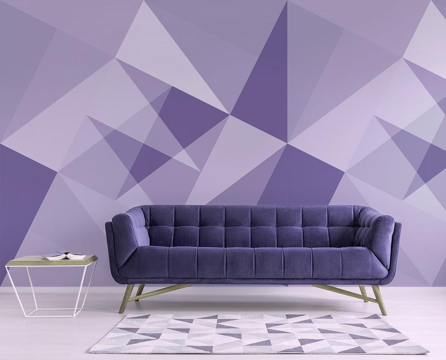 Papel pintado de color Ultra Violet Pantone 2018
